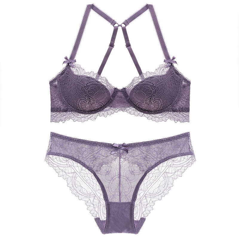New Sexy Lace Thin Cup Bandage Lingerie Set Charm Seduction Push Up Underwear Women Elegant Breathable Panties Bra Set Back To Search Resultsunderwear & Sleepwears Women's Intimates