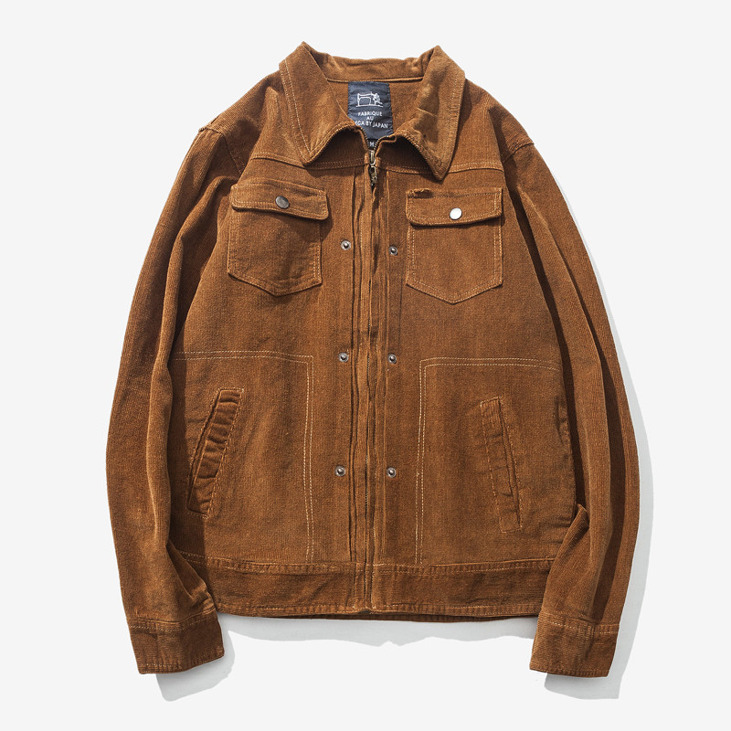 Buy Hip Hop Denim Jacket Men 2017 New Fashion Casual Korean Corduroy Slim Style Jackets Coats High-Quality Outerwear Denim Clothing