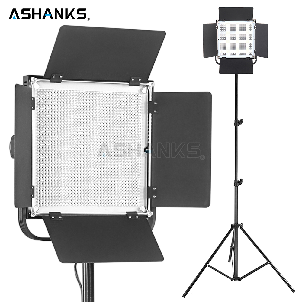 ASHANKS 55W LED Panel Video Light with Light Stand Dimmable Continuous Light Bulb for Photography Camera Photo Studio 3200K/5500 ashanks 800w studio video red head light with dimmer continuous lighting bulb free shipping