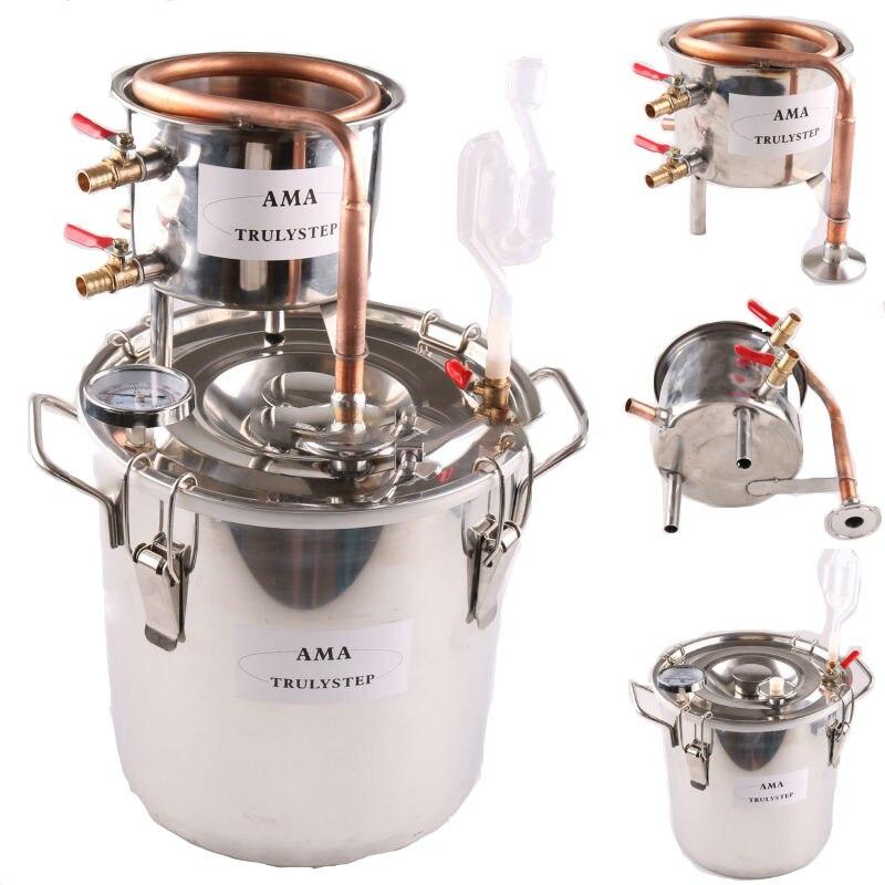 10L ~ 100 Litres Nouveau bricolage Maison Distillateur Alambic Moonshine L'alcool Reste Inoxydable Cuivre D'eau Vin huile essentielle Kit de Brassage