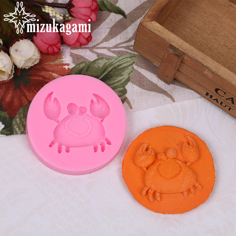 1PCS UV Resin Jewelry Liquid Silicone Mold Cartoon Hairy Crabs Resin Molds For DIY Pendant Charms Making Jewelry