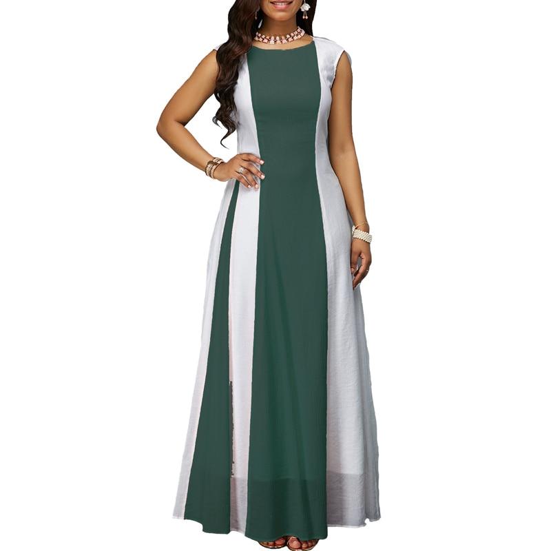 Laughido Plus Size Chiffon Maxi Dress Big Size ukraine Swing Vestidos Dress Elegant Long Party Dress Loose Robe Womens Clothing