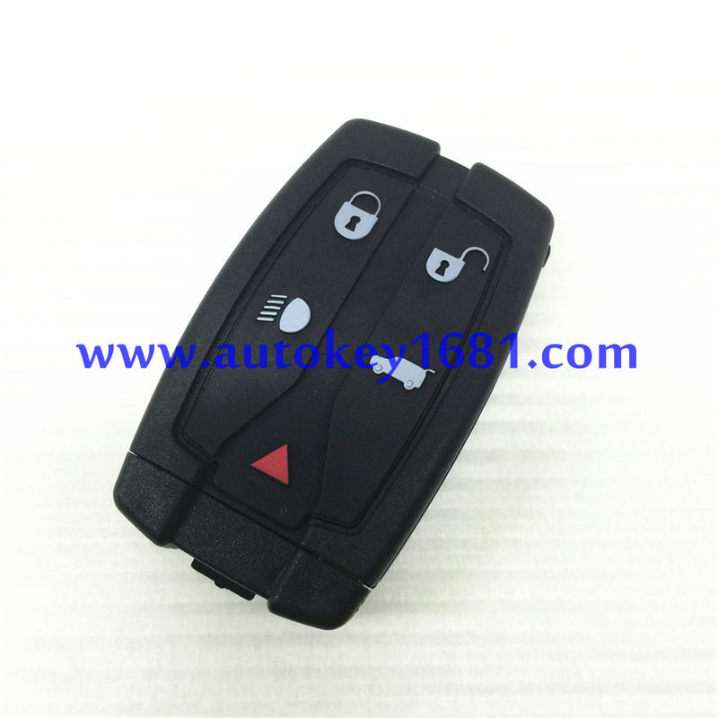For LAND ROVER LR2 2008 11 Smart Key Case Shell Replacement 5 Button with smart car key uncut blade