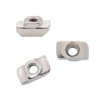 Ze stali węglowej typu T nakrętki zapięcia złącze aluminiowe M3 M4 M5 M6 dla standard ue 3030 przemysłowy profil aluminiowy dla Kossel tanie i dobre opinie Narożnych uchwytów Obróbka metali VENSTPOW