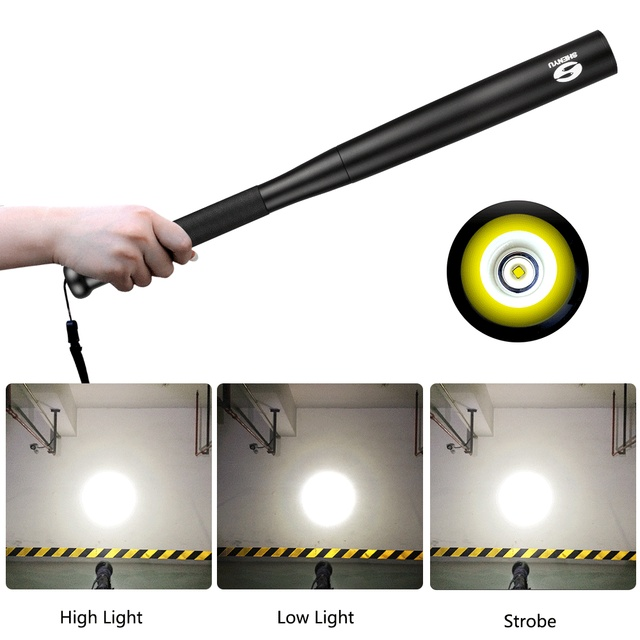 Self Defense Super Bright Flashlight Baseball Bat