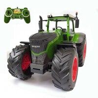 2.4G RC Farm Tractor Truck Remote Control Trailer Dump / Rake 1:16 Simulation Construction Vehicle Children Toys