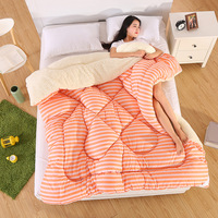 Thickened warm quilt Breathe breathable quilt Fluffy soft quilt Polyester fiber quilt