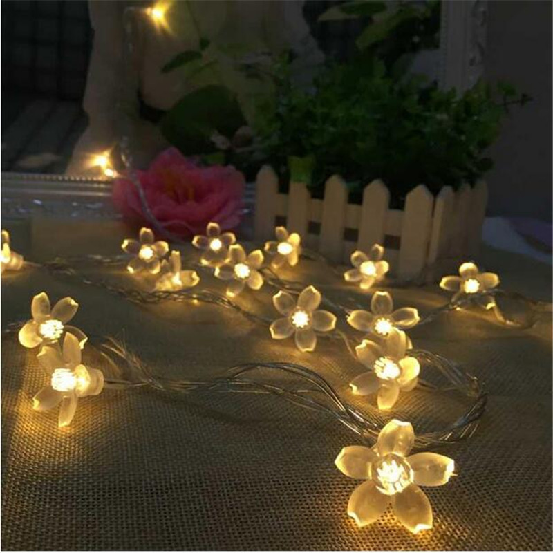 Beautiful Christmas Home Wedding Decor Lotus String Lights Ac220v 4m 20 Led Flower Fairy Light String Indoor And Outdoor Low Price Lights & Lighting