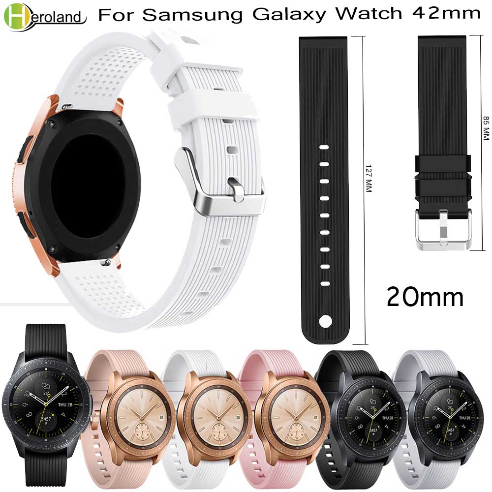 20mm Watch Strap Band Silicone For Samsung Gear Sport S2/S4 Galaxy Watch 42mm For Huami Amazfit Bip Strap For Huawei Watche 2