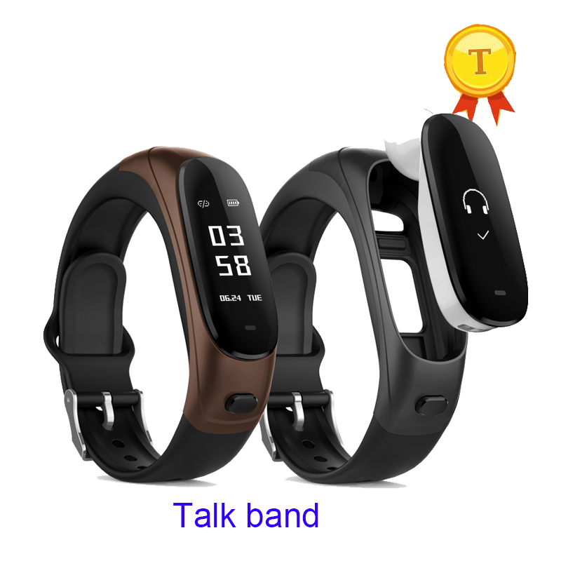 best gift to elder Heart rate monitor healthy wristband BLT 4.0 Wearable Device anti lost Smart Bracelet Talk Band with Earphone lumiparty anti drowning bracelet rescue device floating wristband wearable swimming safe emergency water sports aid lifesaving