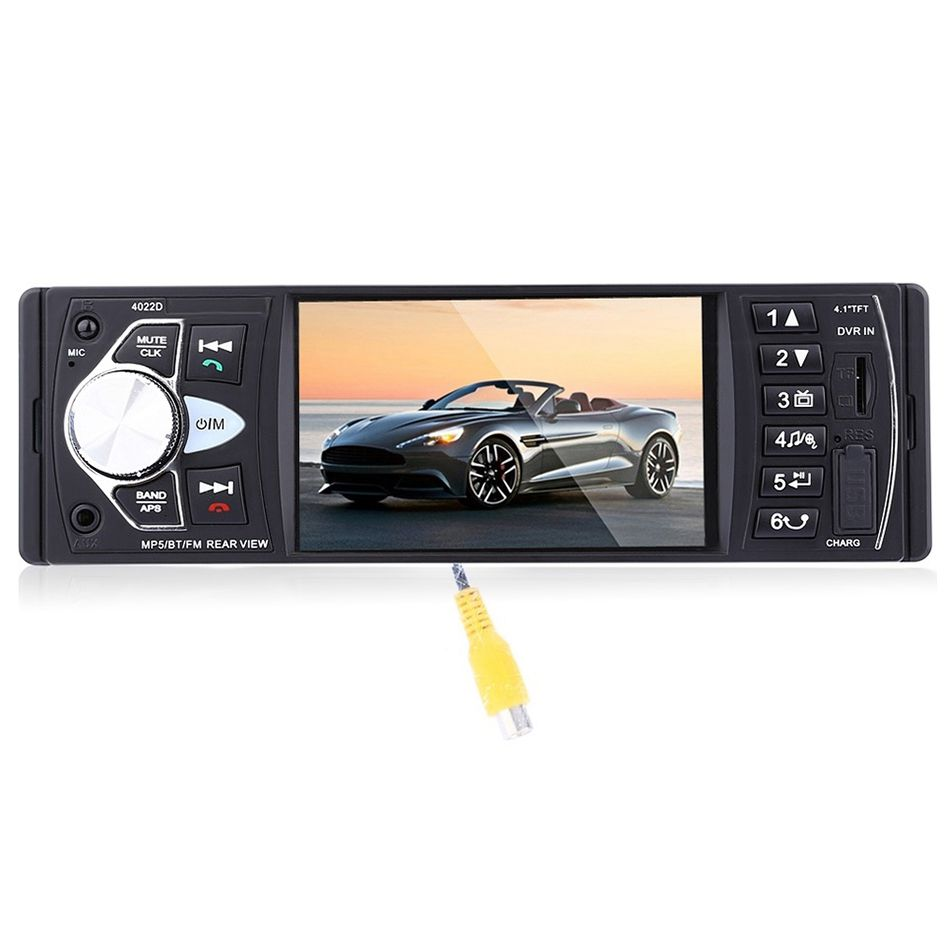 4022D Car Portable Radio Music Player with Rear View Camera Support Bluetooth MP5/FM Transmitter Car Video with Remote Control new 7 inch 2din bluetooth car radio video mp5 player auto radio fm 18 channel hd 1080p in dash remote control rear view camera
