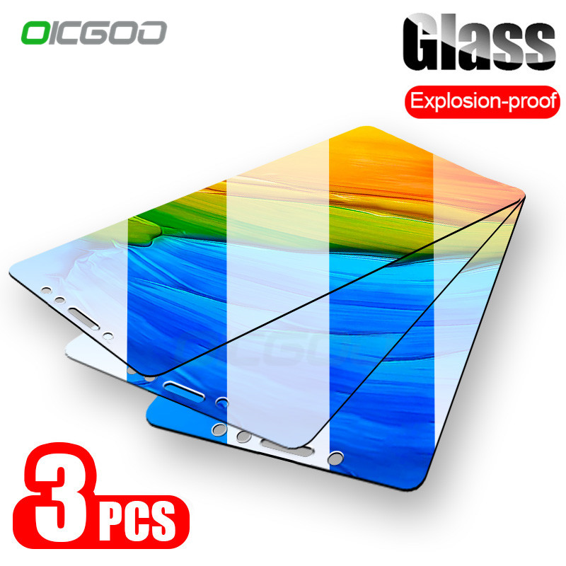 OICGOO 1-3PCS 9H Tempered Glass For For Xiaomi Redmi 7 6A 6 Pro 5 Plus 4X Redmi Note 5 6 7 Pro Screen Protector Protective Glass