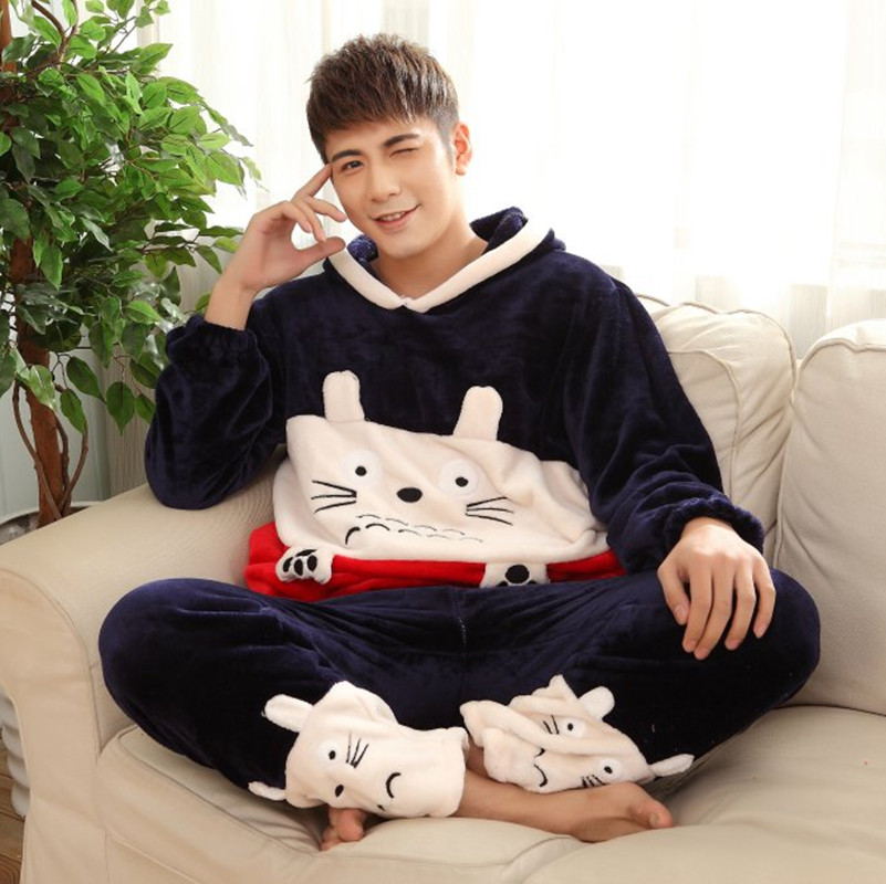 Aliexpress.com : Buy Men's autumn and winter flannel pajamas ...