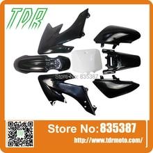 6 ЧЕРНЫЙ + 1 БЕЛЫЙ (число klx110 плиты!) Грязь Велосипед ЯМЫ crf50 ПЛАСТИКОВЫЕ Fender комплект для HONDA CRF50 CRF 50 50cc 70cc 110cc Внедорожных