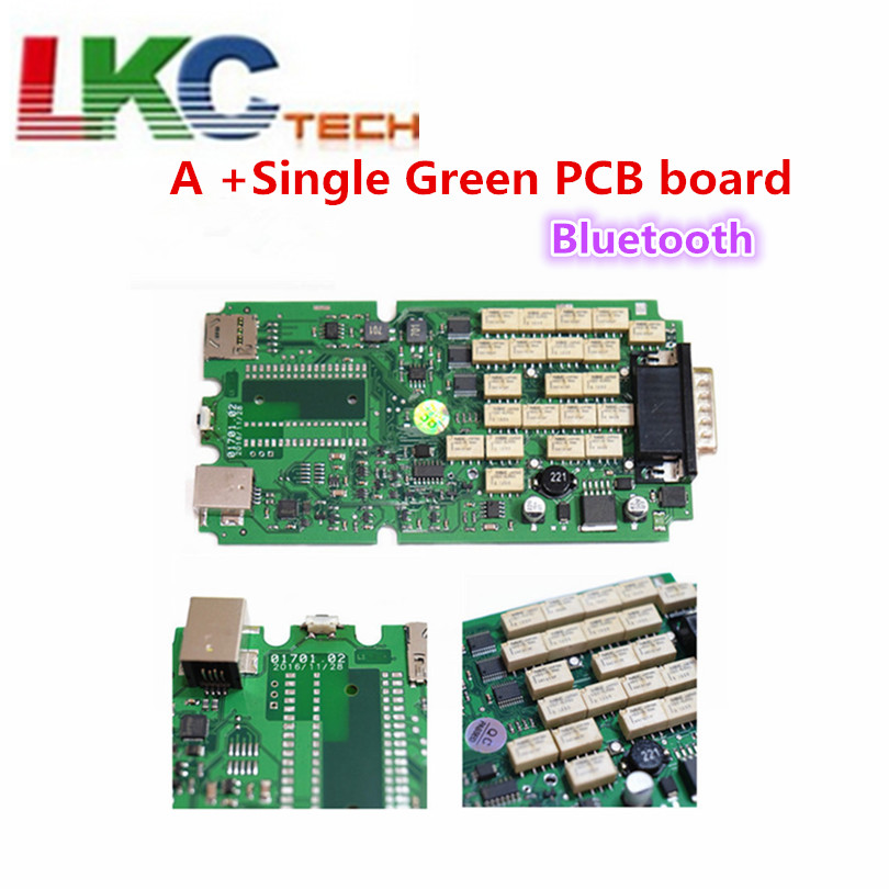 2018 A+Single Green PCB board TCS CDP Pro with Bluetooth cars&Trucks Diagnostic Scanner Top Rated 2014R2/2015R3 with Keygen quality a single one green board vd tcs cdp with bluetooth 2014 r2 2015 r3 optional software plastic suitcase for cars trucks