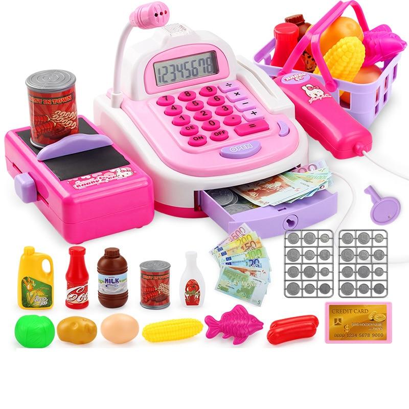 Surwish Kids Plastic Cash Register Play Children Early Educa