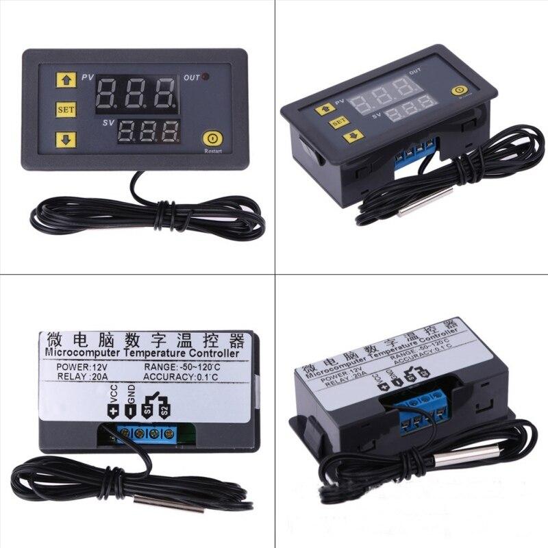 -20-100 Grad Digitale Temperatur Controller Thermostat Temperatur Control Rot Und Blau Display Dc 12 V Neue