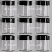 Clear Plastic Empty Nail Art Beads Jar Acrylic Decoration Bottle Craft Container 10 jar 9pcs