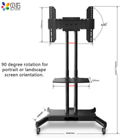 Mobile TV Cart TV Floor Stand Mount Home Display TV Trolley for 32 65 Free Lifting TV Holder with AV Shelf Camera Holder