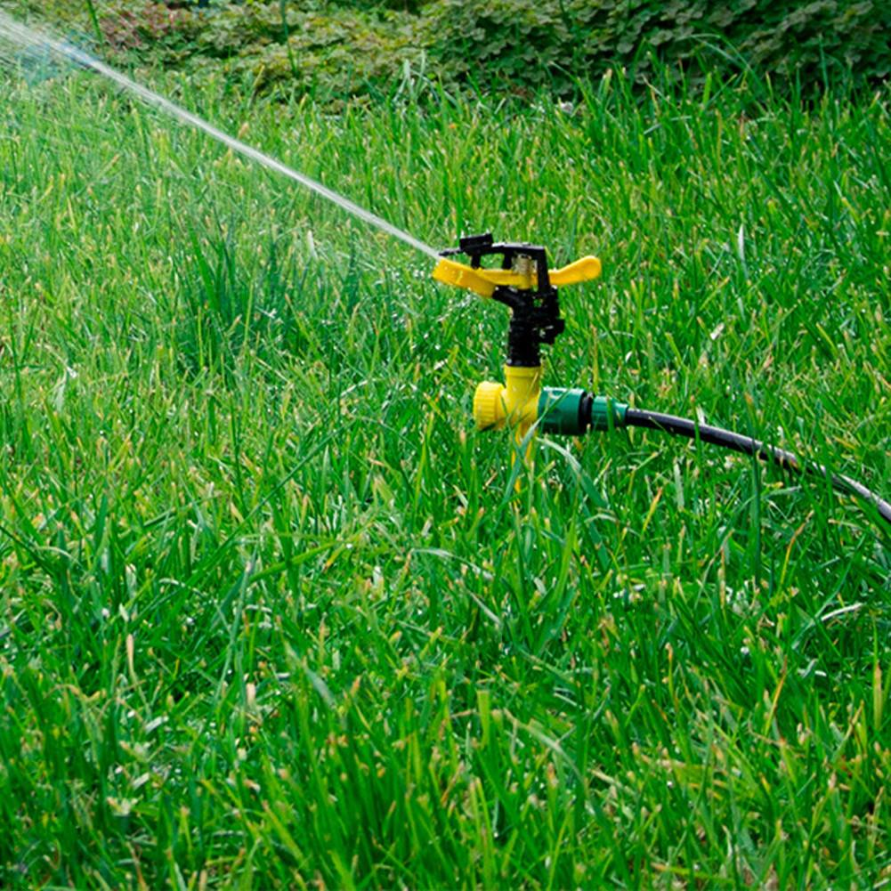 Image 2 - 360 Degree Rocker Rotating Garden Lawn Irrigation Tools Durable Garden Sprinklers Rotating Spray Nozzle Plant Watering Sprinkler-in Sprayers from Home & Garden