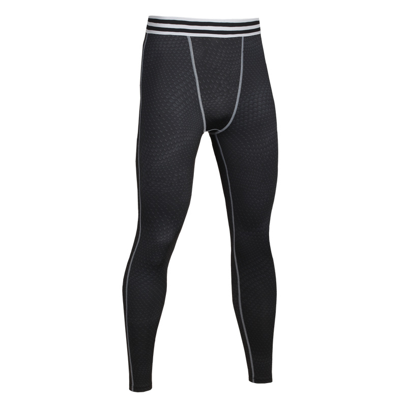 2017 NEW Compression Men Spring And Autumn Compression Pants Running Tights Trousers Fitness Pants Elastic Marathon quick-drying