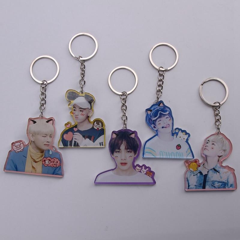 Bangtan Boys Key Chain Love Yourself Acrylic Pendant Keychain Gift