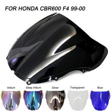 цена на ABS Windscreen For Honda CBR600 1999 2000 Double Bubble Motorcycle CBR 600 F4 Windshield Wind Deflectors