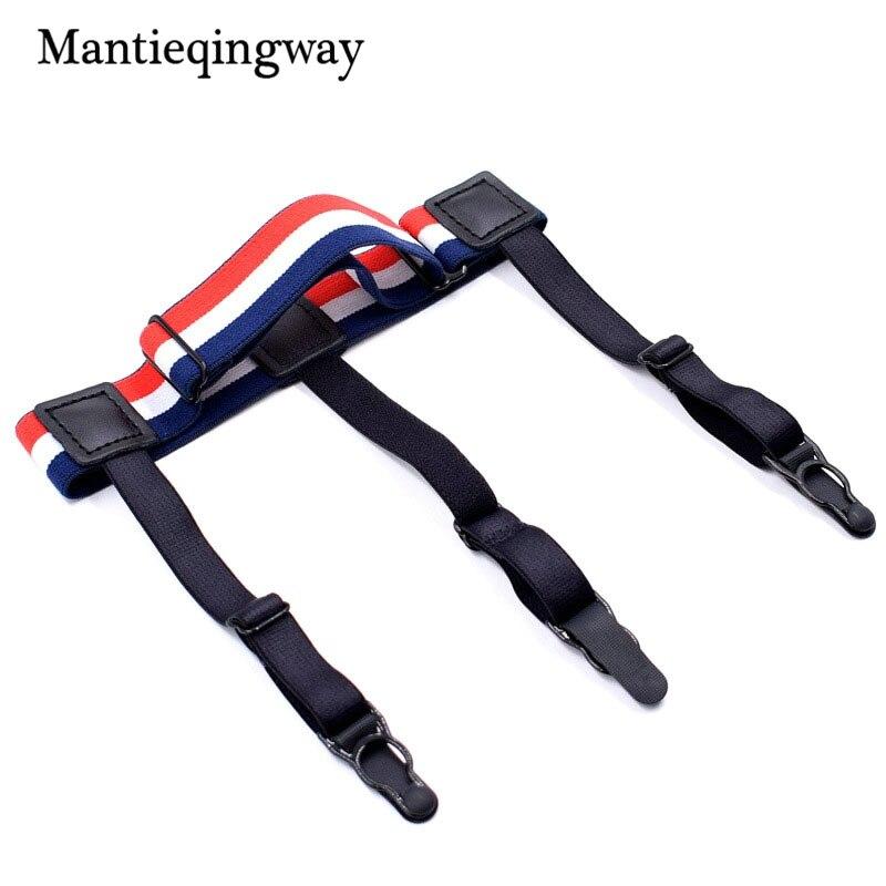 1 unids tirantes sexy pierna cinturón camisa permanece Liga tirantes nylon  elástico ajustable Balck tirantes b14745478a54a