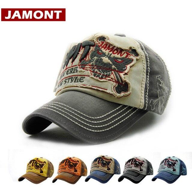 JAMONT  marca gorra de béisbol hombres mujeres Snapback sombrero Tigre  patrón Casual algodón lavado 18689192ca2