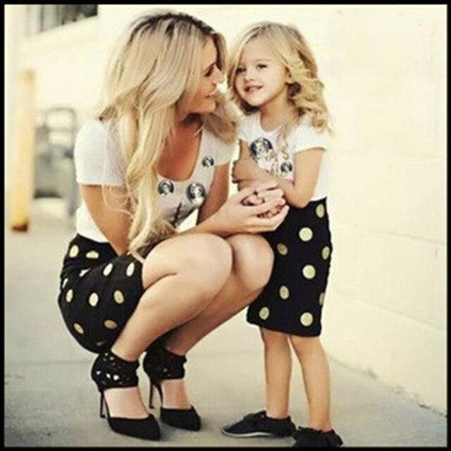 705a7ea1ba64 2016 summer family look corrispondenza madre figlia abbigliamento abiti  mamma e figlia vestito backless abiti neri ...