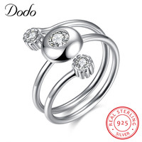Genuine 925 Sterling Silver Jewelry 3 Layers Designer Brand Dazzling Australian Crystal Rings Women Wedding Infinity