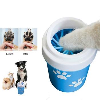 Zampa del cane Cleaner Tazza per le Piccole Grandi Cani Pet Piedi Lavatrice Portatile Pet Cat Sporco Zampa Tazza di Pulizia Molle Del Silicone strumento di Lavaggio del piede