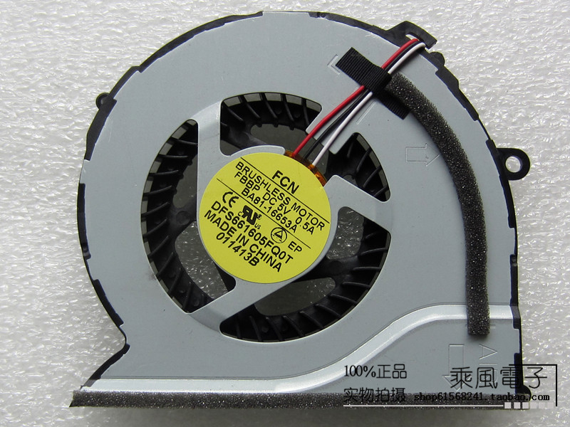 SSEA New CPU Cooling cooler Fan for SAMSUNG NP550 <font><b>NP550P5C</b></font> NP550P7C NP-550P5C NP-550P7C laptop fan P/N DFS661605FQ0T image
