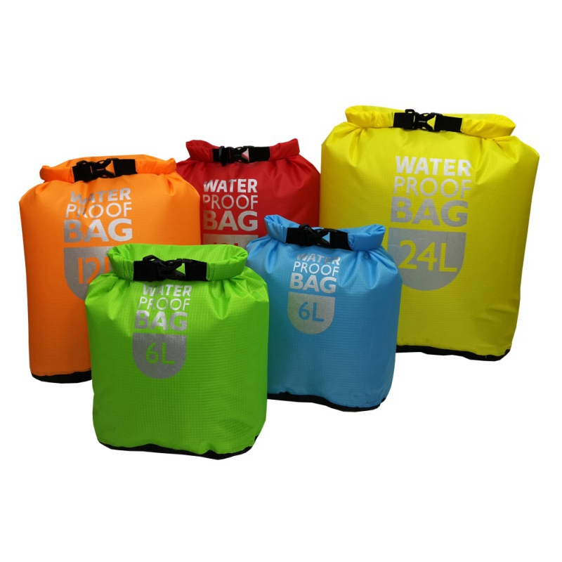 Waterproof Dry Bag Pack Sack Swimming Rafting Kayaking River Trekking Floating Sailing Canoing Boating Water Resistance 6/12/24L