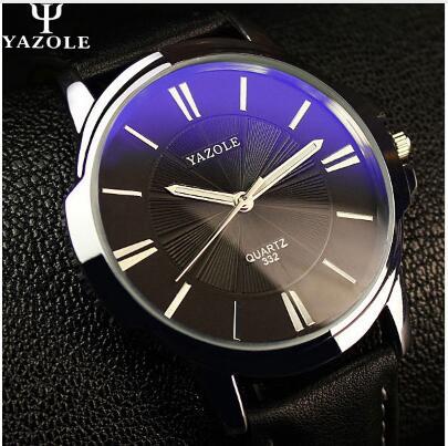 YAZOLE Sports Men Watch Luxury Top Brand business Male Clock simple WristWatch Leisure Fashion Leather quartz watch Relogios 5