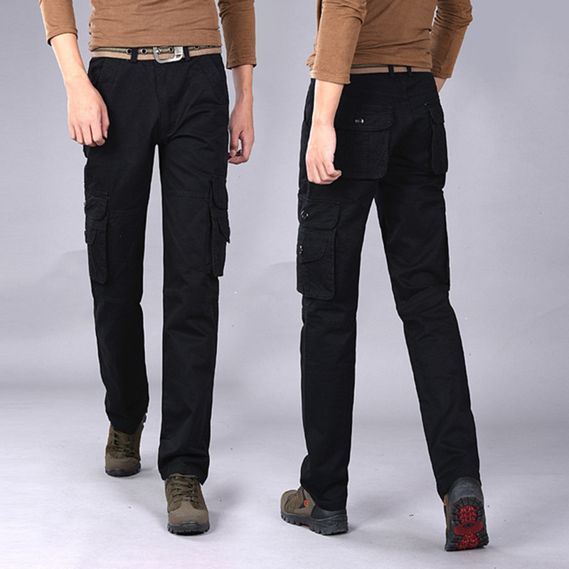 Cargo-Pants Army-Trousers Stretch Many-Pockets Military Tactical Male Cotton Casual Swat