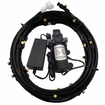 6M Mist Pump 12V 5L/Min 160PSI  Booster Diaphragm Water Pump Sprayer with Mist Kits For Misting Cooling System