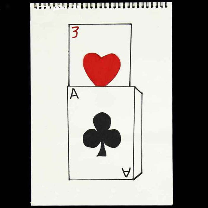 Cardiographic Exclusive Rise Card Prediction( 390*260MM ) Magic Tricks Stage Gimmick Props Magie Comedy Mentalism