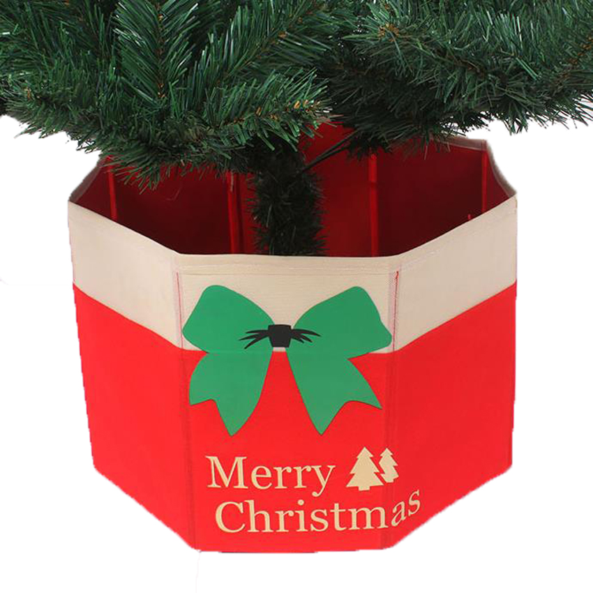 Rooted Christmas Tree: Foldable Tree Skirt Box Merry Christmas Tree Decorative