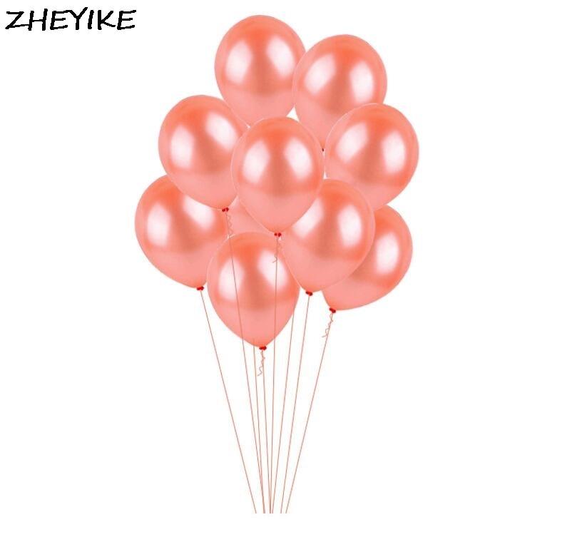 Us 1 72 31 Off Zheyike 1pc Ballonnen Bruiloft Rose Gold Balloons Wedding Balony Birthday Party Latex Balloons Decoration Supplies Globos In Ballons