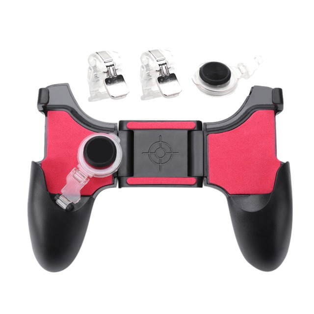 For PUBG Mobile Trigger 5 in 1 Mobile Phone Gamepad Fire Button L1R1 Shooter Controller Joystick Aim Key For iPhone Xiaomi New