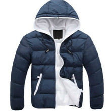 Bonjean Новинка 2017 брендовая зимняя куртка для мужчин пальто с капюшоном Повседневная Мужская плотное пальто мужской Тонкий Повседневная хлопковая стеганая верхняя одежда на пуху