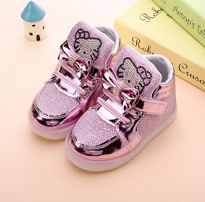 Children Casual Shoes Led Lights Female Male Child Sport Shoes Rhinestone  Outsole Spring And Autumn Martin Boots Free Shipping-in Boots from Mother    Kids ... e003d51c9111