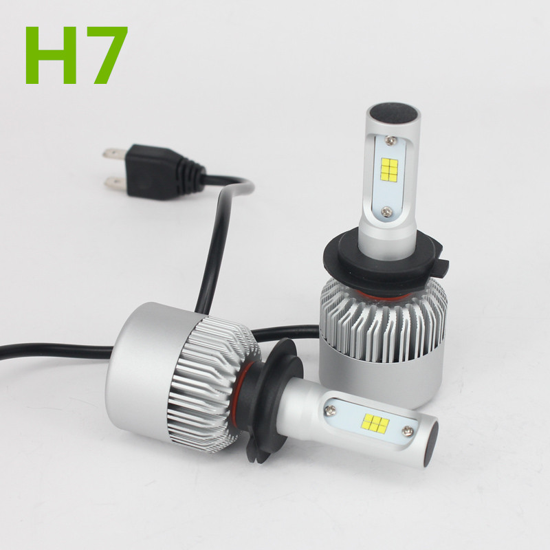 H7 CSP Led Headlight Single Beam Car Led Headllamp Bulb 6500K 8000LM Auto light Source For Philips Chip Automoveis Carro Voiture 9012 hir2 csp led headlight single beam car led headllamp bulb 6500k 9600lm auto lights source for philips chip automoveis