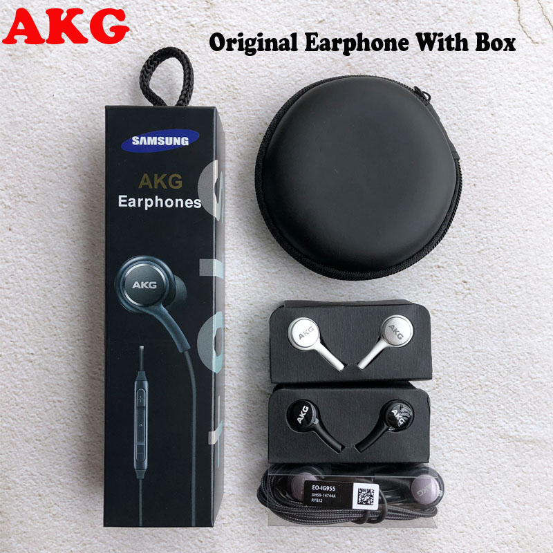 AKG Earphones Black EO-IG955 3.5mm In-ear With Microphone Wire Headset For Samsung Galaxy S8 S9 S10 Headphones S7 S6 FOR XIAOMI
