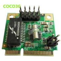 Mini PCIE Network Lan Controller Card Gigabit Ethernet Card 10/100/1000 Base T with RJ45 Port Bracket To Laptop Servers