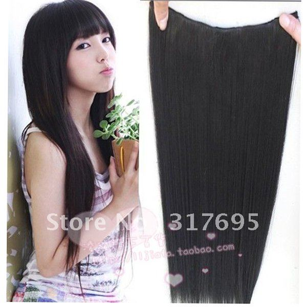 Free Shipping 5 Clips In Kanekalon Synthetic Hair Weaving ...