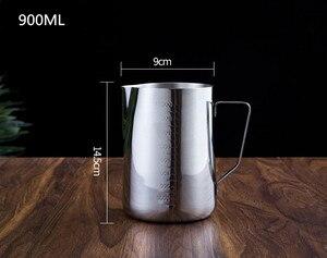 Image 4 - Aço inoxidável multi tamanho stencils café copo garland pote arte barista ferramentas acessórios de café fácil ir café molde estêncil