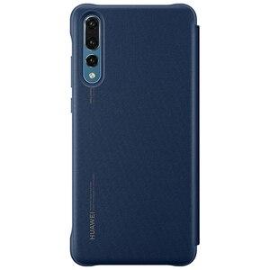 Image 3 - 100% רשמי מקורי Huawei P20 פרו מקרה להתעורר/שינה ציפוי מראה חלון Flip כיסוי עבור Huawei P20 מקרה תצוגה חכמה מקרה