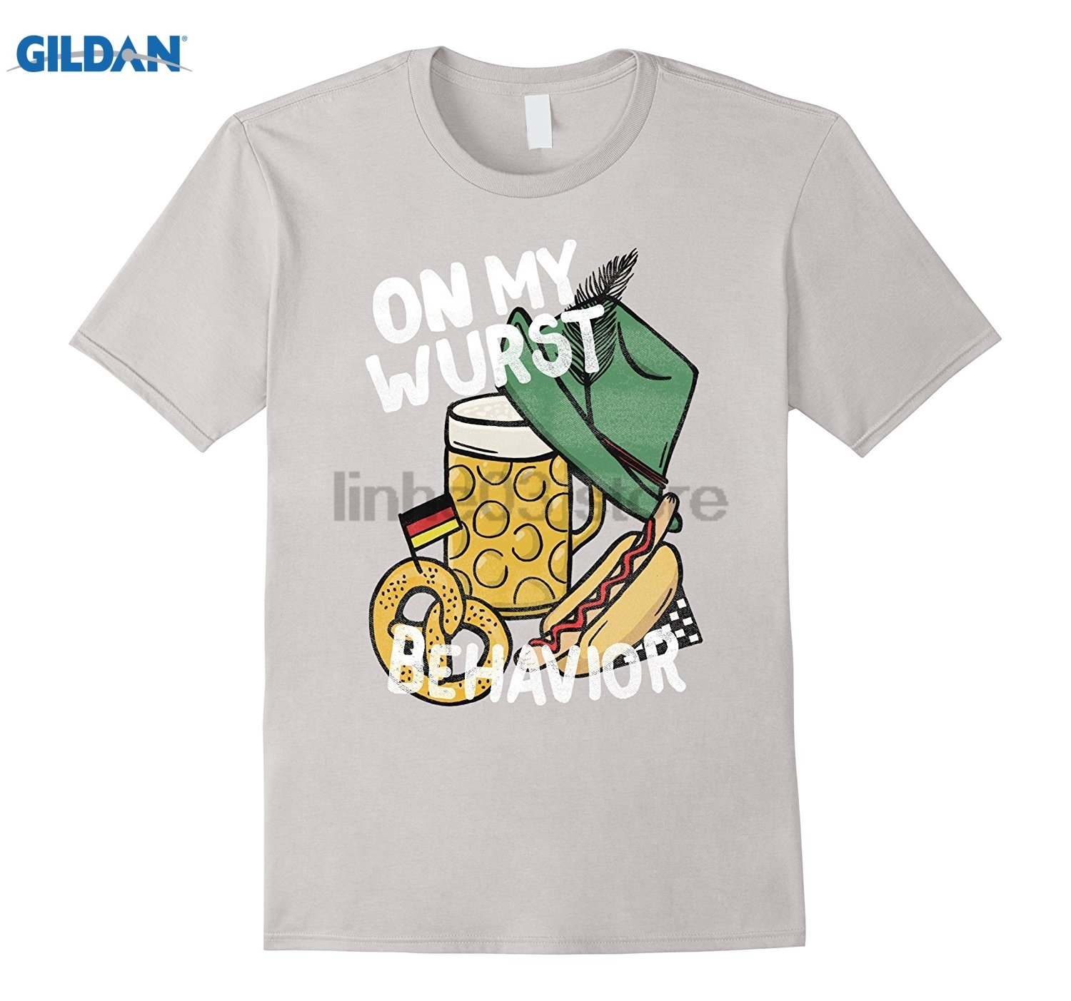 GILDAN Oktoberfest Shirt - On My Wurst Behavior German Beer Tee Womens T-shirt ...